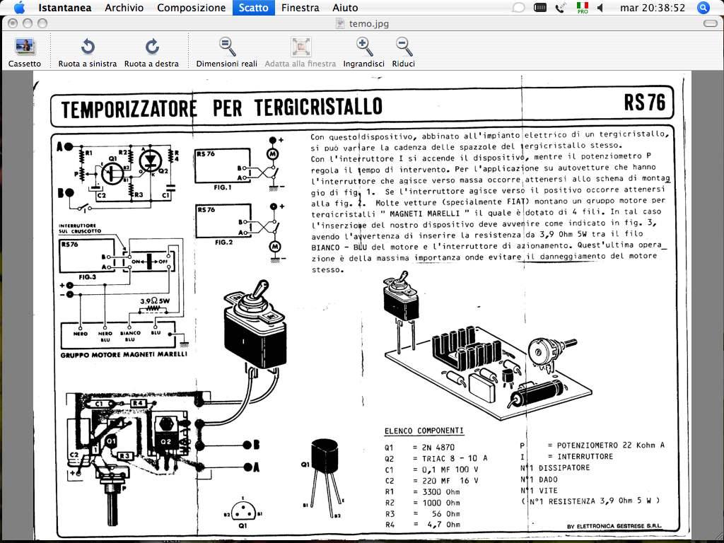 Schema Elettrico Per Temporizzatore : Schema funzionamento tergicristallo fare di una mosca