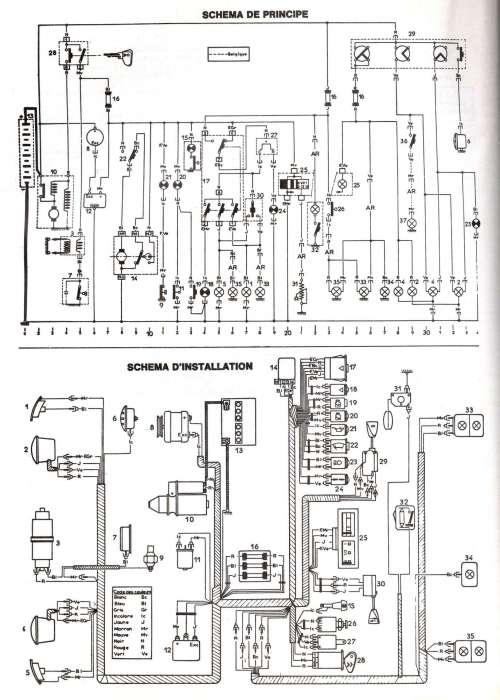 schema elettrico 2cv6 del 1983