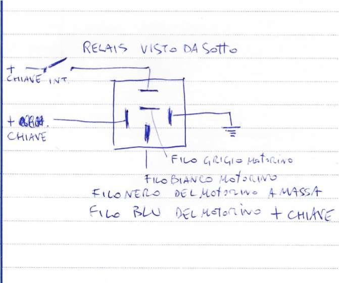 Schema Elettrico Tergicristallo 5 Fili : Collegamento motorino tergicristalli