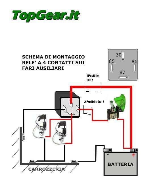 Schema Elettrico Per Faretti Moto : Schema elettrico per fari supplementari lubriroma note