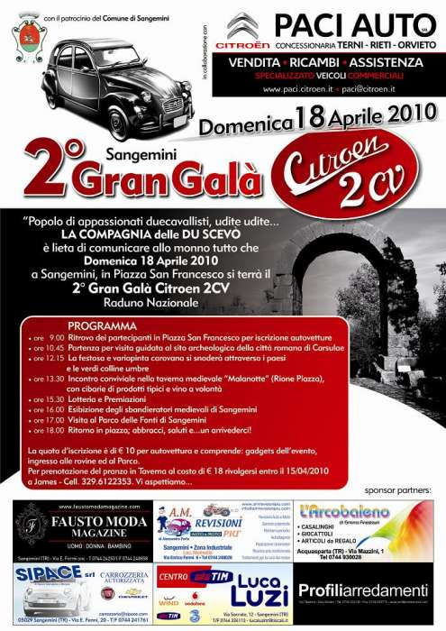 San Gemini: Gran Galà Citroen 2CV 2010