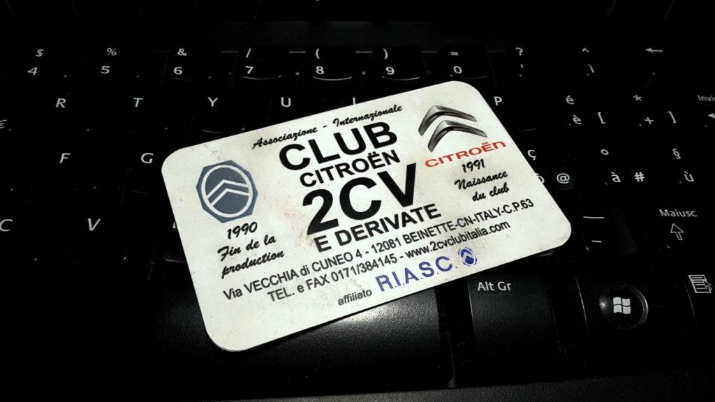 tessera 2cv club italia